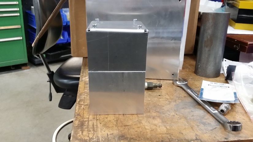 Aluminum injector cover enclosure