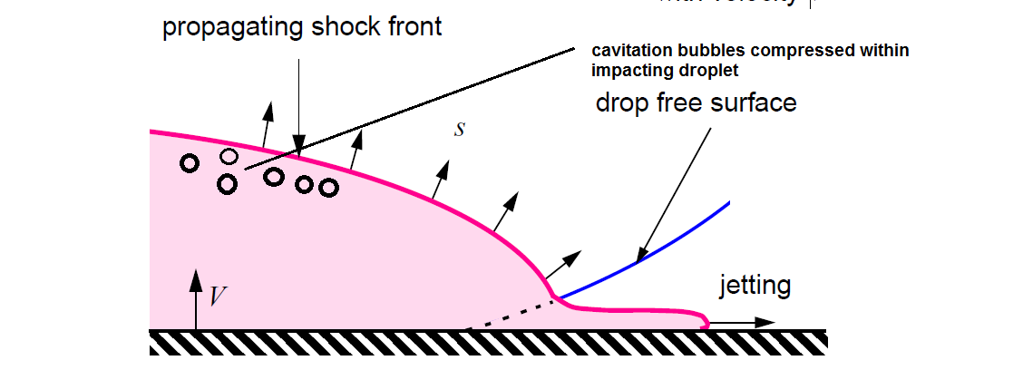 Shockwave Propagation in Water Droplet
